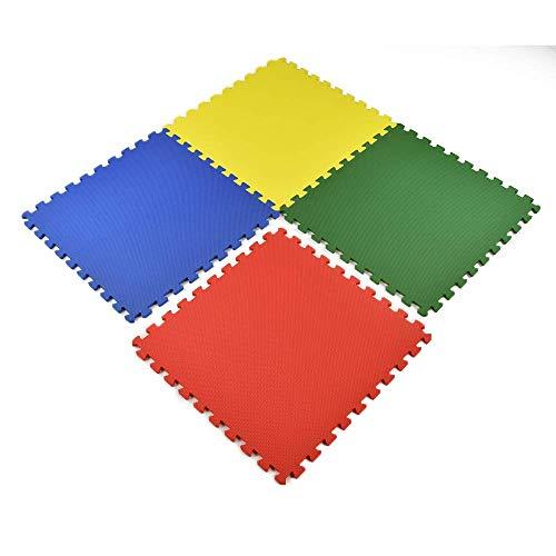 playmats Greatmats Foam Puzzle Tile, Playmats Kids Flooring, 2x2 Ft x .5 Inch, 4 Colors Mix, 16 Pack
