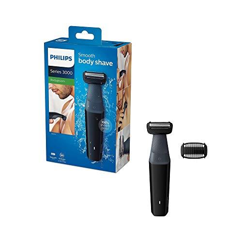 Philips BG3010/13 - Groomer, serie 3000, impermeabile con sistema di comfort per la pelle, con...