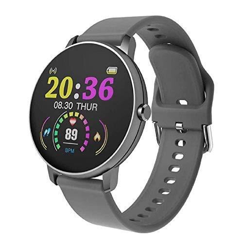 Fitness Tracker Full Touch Smart Watch Hombres s Presión Arterial Smartwatch Señoras Impermeable Frecuencia Cardíaca Tracker Reloj Deportivo Reloj Deportivo Fitness Tracker - Gris