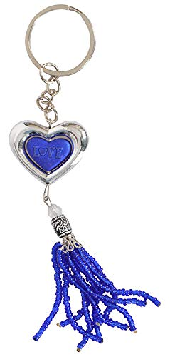 Yashica's Craft Silver and Blue Keychain, Love Written in Centre,Trending, Bike, car, Home Usage,Best Product on Amazon in Low Rate, Valentine Gifts for Girlfriend/Boyfriend