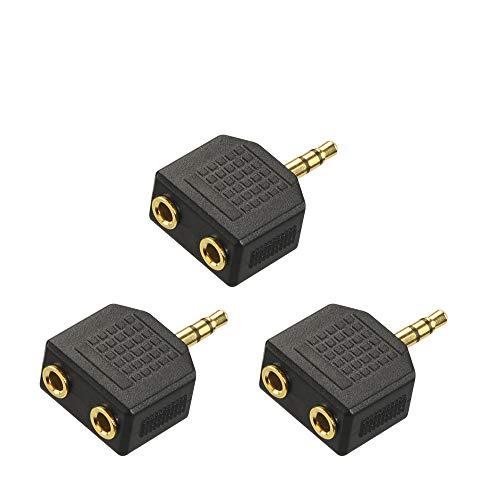 VCE 3,5 mm Macho a Doble 3.5 mm Hembra Estéreo Jack Adaptador Forma de Y Divisor de Audio Conector