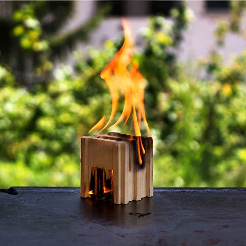 Accendifuoco naturale 100% di legno abete, indispensabile per accensione ecologica della vostra...