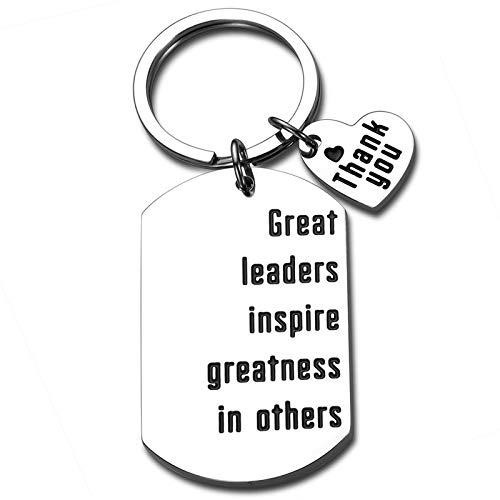 Leader Boss Appreciation Keychain Gift for Him Her Boss Lady Women Men PM Supervisor Mentor Manager Thank You Leaving Going Away Birthday Christmas Boss Day Retirement Gift
