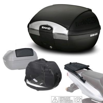 SHAD - KIT-SHAD-1400/214 : Kit fijacion y maleta baul trasero + respaldo + bolsa interna regalo SH45 --- YAMAHA FZ6 Fazer 600 (1998-2000)