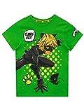 Miraculous - T-Shirt - Cat Noir - Garçon - Vert - 5-6 Ans