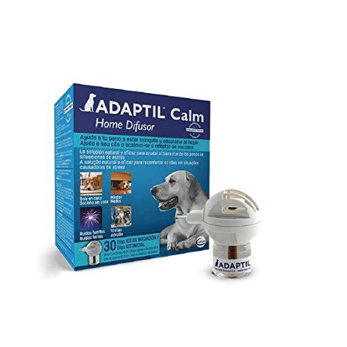 ADAPTIL Calm - Antiestrés para perros - Solo en casa, Miedos, Ruidos fuertes, Adopción - Difusor + Recambio 48ml