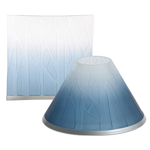 Official Yankee Candle Beautiful vetro smerigliato ombre Forest silhouette design grande, con piattino–Candela non inclusa
