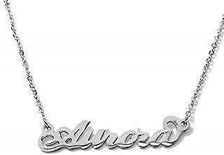 Collana nome ALESSANDRA in acciaio inossidabile. Perfetto per idea regalo. Handmade. anallergico no nichel