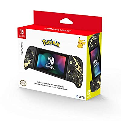 Hori Nintendo Switch Split Pad Pro (Black) Ergonomic Controller for Handheld Mode by