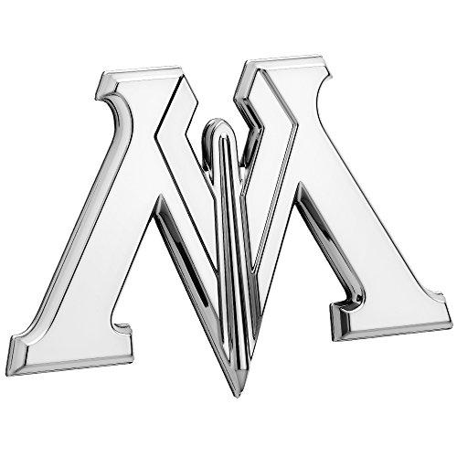 Fan Emblems Harry Potter Car Badge 3D Ministry of Magic Symbol (Chrome)