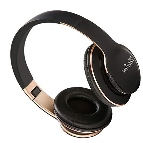 Auriculares inalámbricos Bluetooth con Cancelación Activa de Ruido Baja Latencia, Auriculares De Estudio para PC/Teléfonos Celulares/TV Alta fidelidad Estéreo Cascos Inalámbrico Bluetooth ,Negro
