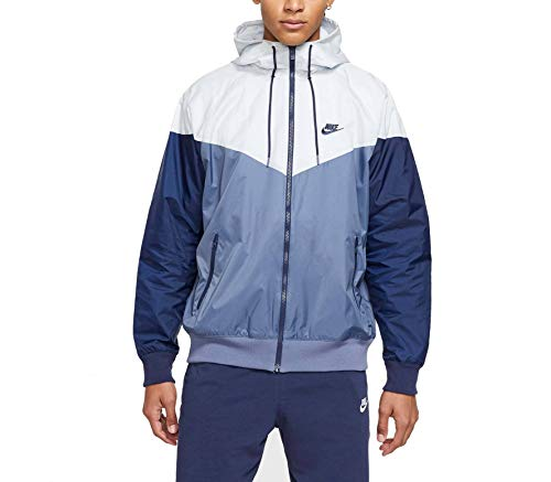 Nike Herren M NSW HE WR JKT HD Sport Jacket, diffused Blue/Pure Platinum/Midnight Navy/(Midnight Navy), M