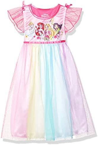 Disney Princess Girls Toddler Fantasy Nightgown Multi Princess Rainbow 3T product image