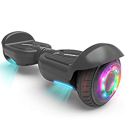 HOVERSTAR All-New HS 2.0v Hoverboard Matt Color Two-Wheel Self Balancing Flash Wheel Electric Scooter (Black)