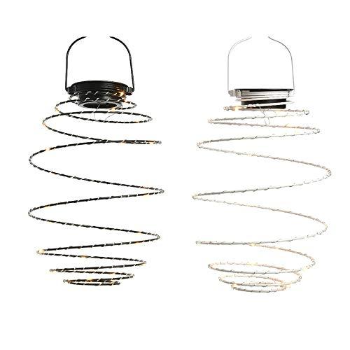 GRUPO EDM Lampe Suspension LED Solaire à Spirale Couleurs Assorties