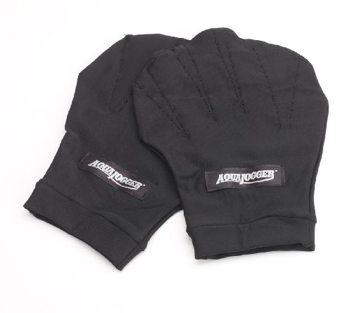 Buy Bargain AquaJogger Exercise Gloves, Black, Medium
