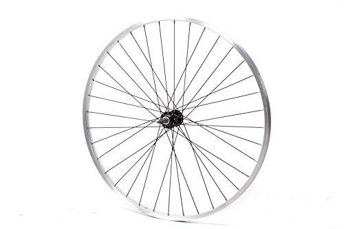 28 Zoll Alu Fahrrad Hinterrad Laufrad Felge Schraubkranz 622-19 Silber Vollachse