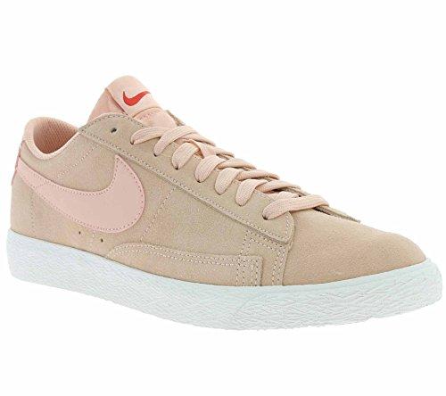 Nike Blazer Low Schuhe Herren Echtleder-Sneaker Turnschuhe Rosa 371760 801, Größenauswahl:43