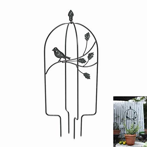 MYHZH Oiseaux Garden Trellis, pour Plantes grimpantes Cadre Fleurs de Jardin en métal pour treilles Intérieur Extérieur Plante en Pot Soutien pour Rose Tomate Pois Ivy Concombres,Noir