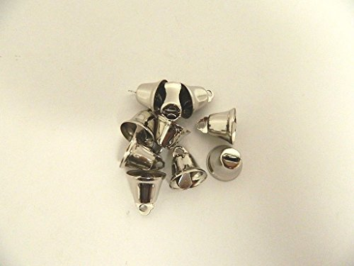 LOT of 50pieces -Craft Bells SMALL 14MM SILVER LIBERTY JINGLE BELLS Charms Pendants Jewelry Making Embellishments Sewing threading Crafts Projects, Christmas Tree Supplies Festive Decorations