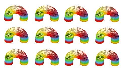Sonnenscheinschuhe® Bigpack: 12 x Regenbogenspirale Treppenläufer 6cm Hüpf Spirale Mitgebsel für Kinder Geburtstag