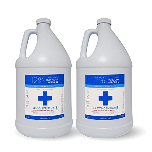 12% Food Grade Hydrogen Peroxide (2 Gallons) - Free Same Day or Next Day Shipping - No Added Stabilizers Indiana