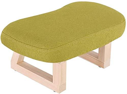 Hewen Taburete de Dormitorio Otomana de Madera Maciza y Pouffe Tapiz tapizados/reposapiés Banco de Zapatillas para Adultos y niños (Color: Marrón) Sala Taburetes y Reposapiés (Color : Green)