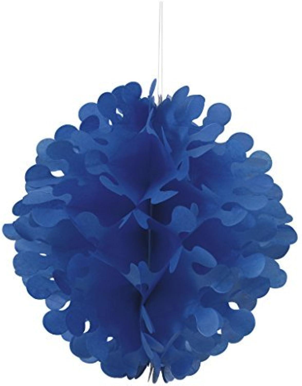 30cm Flutter Royal Blau Tissue Paper Ball by Unique Party