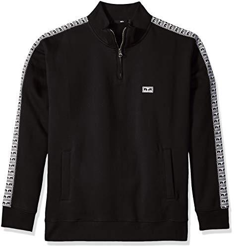 Obey Herren Bridges Mock Neck Zip Fleece Sweatshirt, schwarz, XX-Large