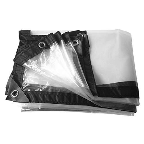 HSBAIS Bache Transparente avec oeillets - Vinyle Bache Exterieur, Bâches pour la neige imperméable et les rayons UV,1x1m/3.3x3.3ft