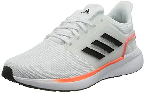 adidas EQ19 Run, Zapatillas de Running Hombre, FTWBLA/Carbon/Rojsol, 42 EU