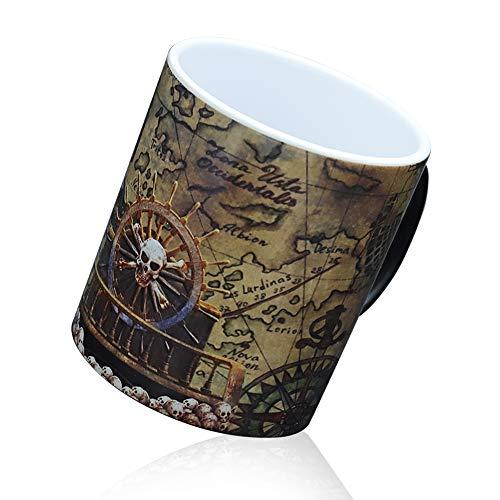 IGZOM Tazza Magica,Ceramica Termosensibile Walking Dead Zombie Tazze,Interessante Uomini Donne Compleanno Natale Halloween Regalo
