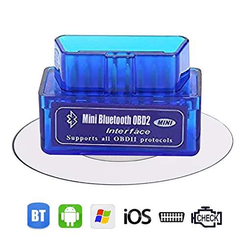 Dasaita Mini OBD2 Diagnosegerät Bluetooth OBD II Auto Diagnosegerät Scanner Für Fahrzeuge Universal Fehler Code KFZ Stecker Für IOS Android Autoradio iPhone Tablet Benzin Auto Diagnosewerkzeug