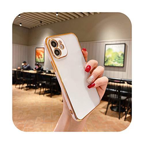 Funda protectora para iPhone 12 Pro 11 Pro Max XR XS Max X 7 8 Plus 12Mini SE2 mate transparente cubierta-T2-para iPhone SE 2020