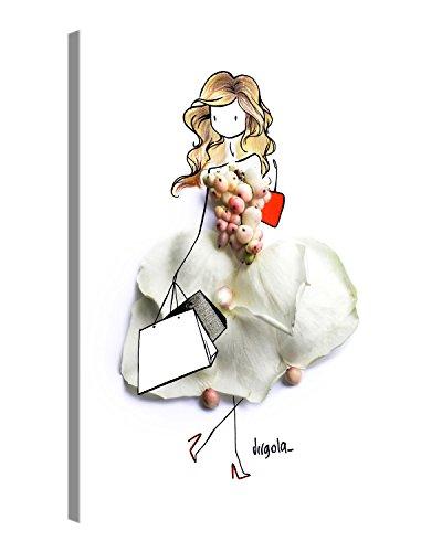 PICANOVA Carrie 40x30cm – Premium Leinwanddruck – Kunstdruck Auf 2cm Holz-Keilrahmen Für Schlaf- Und Wohnzimmer Von Virgola Art Druck Auf Leinwand, Polyester / 100 Prozent Pine Wood