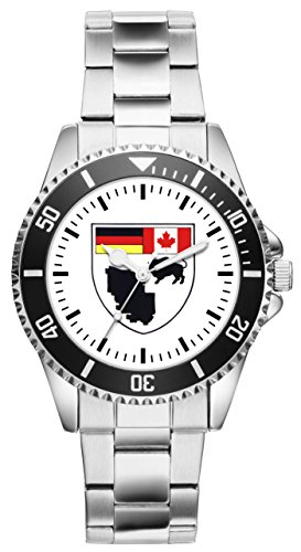 Soldat Geschenk Bundeswehr Artikel CFB Shilo Kaserne Kanada Truppen Uhr 1448