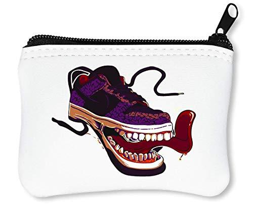 Crazy Sneakers | Insane Tongue | Clean Teeth | Popular | Cool T Shirt | Funny Picture Reißverschluss-Geldbörse Brieftasche Geldbörse