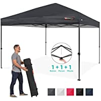 Best Choice Products 10x10ft One Person Instant Pop Up Portable Canopy with Wheeled Bag
