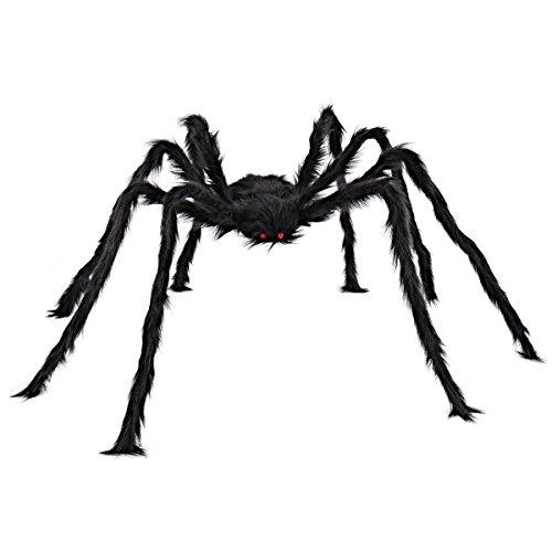 JOYIN Halloween Outdoor Decorations Hairy Spider (Black)