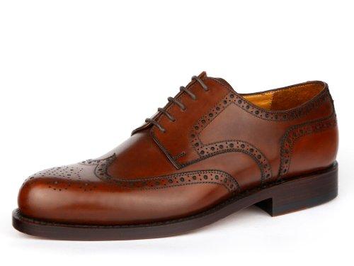 Prime Shoes Linz Rahmengenäht Hellbraun Box Calf Cuoio Budapester Schnürschuh aus feinstem Kalbsleder D 46,5 / UK 11 ½