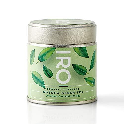 Té Verde Matcha Biológico japonés en polvo IRO, Premium Ceremonial Grade bio 30 g, 100 % orgánico, 100 % natural, 100 % japonés, Matcha excellence, 1 lata de 30 g = 30 boles de té Matcha