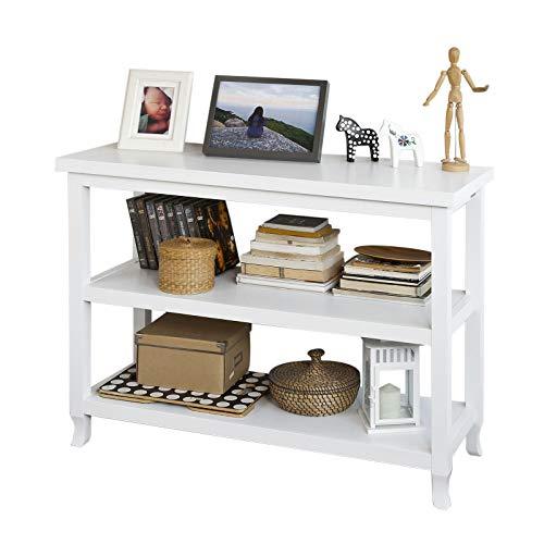 SoBuy FSB06-W Konsolentisch Flurschrank Sideboard Küchenschrank mit 3 Ablagen 110x40x80cm weiß