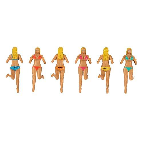 Bosom Buddies Glasmarkierer im 6er Set - Strandgirls Glasmarker Glasmarkierung