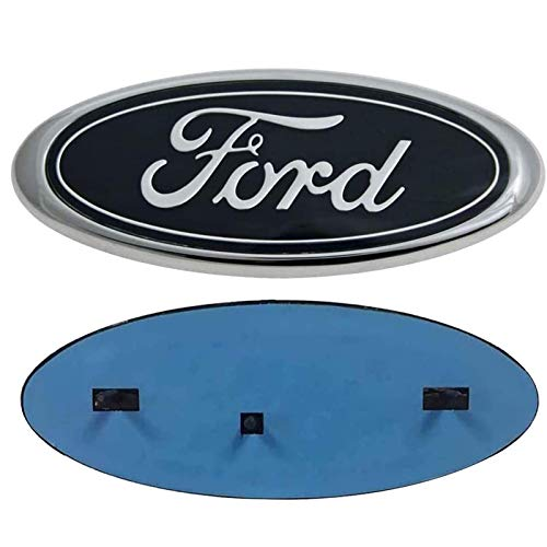"""Carhome01 Front Grille Tailgate Emblem for Ford, Oval 9""""X3.5"""" 2004-2014 F150 Black Decal Badge Nameplate Also Fits for 04-14 F250 F350, 11-14 Edge, 11-16 Explorer, 06-11 Ranger (Partial Update)"""