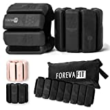 FOREVA FIT Ankle or Wrist Weights Pair - 1.1 lbs Each, Adjustable Size, Wrist and Ankle Weights for Women and Men, Workout Weights for Exercises, Cardio, Walking, Hiking, Pilates, Aerobics, Yoga