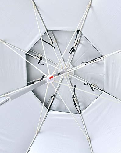 パラソル チルト機能付 角度調節 折り畳み式 シルバーコーティング UVカット コンパクト収納 フィッシングパラソル ガーデンパラソル コーヒー色 直径:206cm