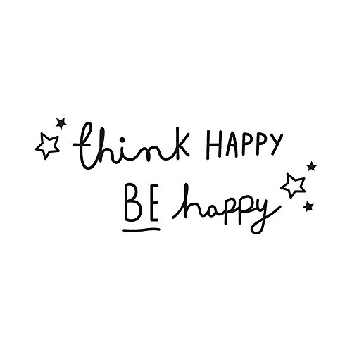 Little Story Think Happy Be Happy Removable Art Vinyl Mural Home Room Decor Wall Stickers, Christmas Decor Tree Ornaments