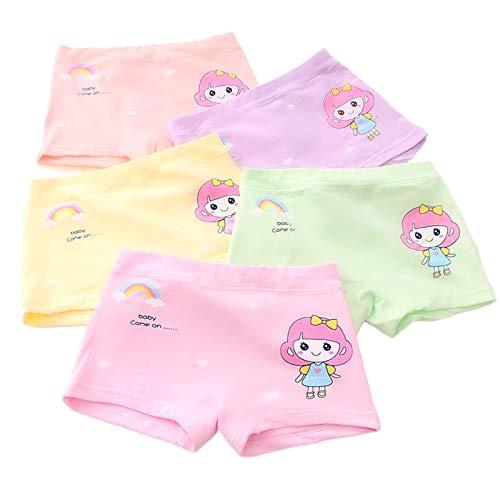 YMOMG Mädchen Boxershorts, Prinzessin-Stil 4-teilige Kinderunterwäsche Unterwäsche, Baumwolle Weiche Unterwäsche, Mädchen 2-15 Jahre Alte Unterwäsche (Farbe 5,9-13 Jahre)