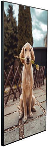 Ecowelle Infrarotheizung mit Bild | 1200 Watt | 120x60x2cm | Infrarot Heizung| | Made in Germany| b 97 Hund