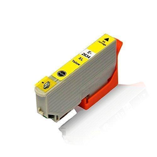 1x kompatible Tintenpatrone für Epson Expression Premium XP-620 XP-625 XP-700 XP-710 XP-720 XP-800 XP-810 XP-820 C13 T2634 4010 T2634 Yellow 12,5 ml